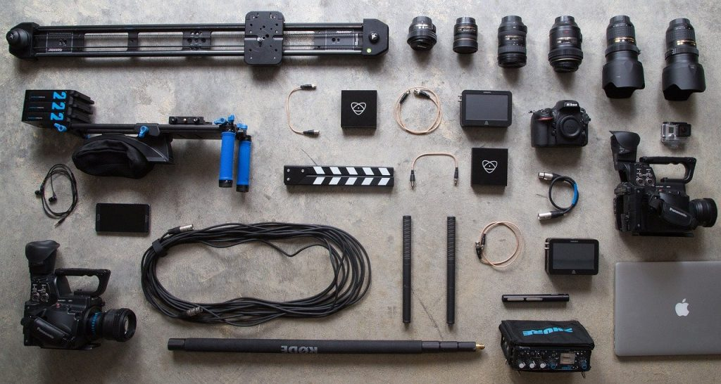 equipment, photography, camera